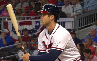 Braves OF Preston Tucker on Thursday pulled even with Washington's Bryce Harper for the NL lead in RBI (18)